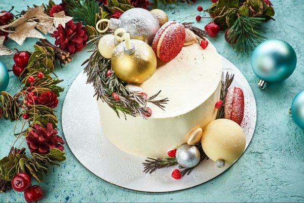 Торт «Новогодние игрушки»