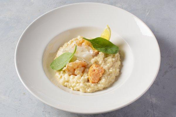 Salmon & Shrimp risotto