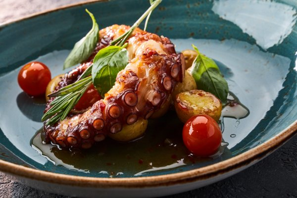 Grilled octopus