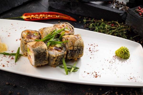 Roll with salmon & tuna