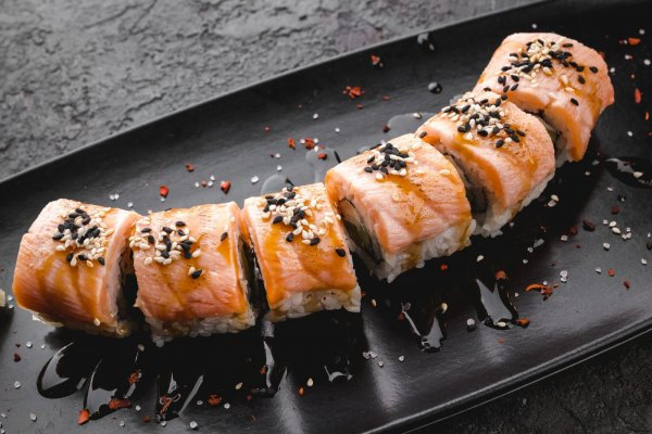 Salmon & eel roll