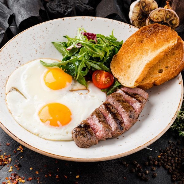 Chuck Steak and Fried eggs