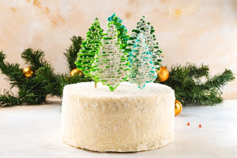 Торт «Снежный лес» (порция)